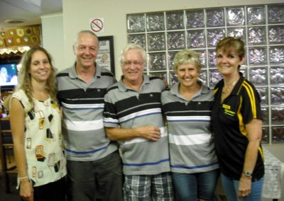 Hypersure Trips 3rd place Greg McLeod, Alec & Nicky Stirzaker with Patsy & Bianca  2017